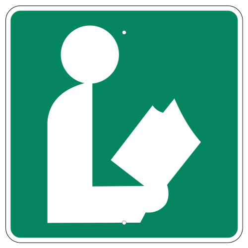 Library Symbol Sign