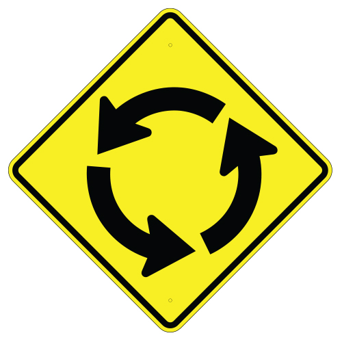 Circular Intersection Symbol Sign