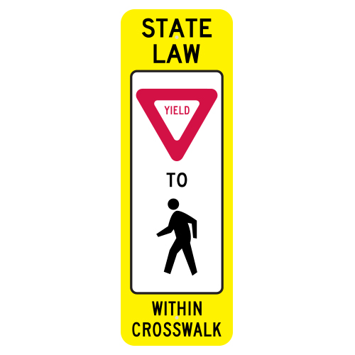 State Law Yield to Pedestrian Within Crosswalk