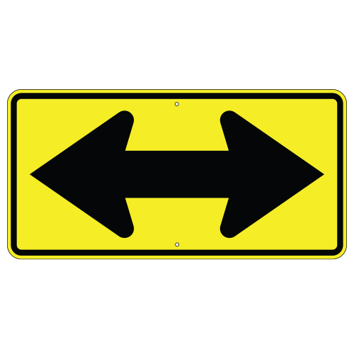 Large Double Arrow Sign