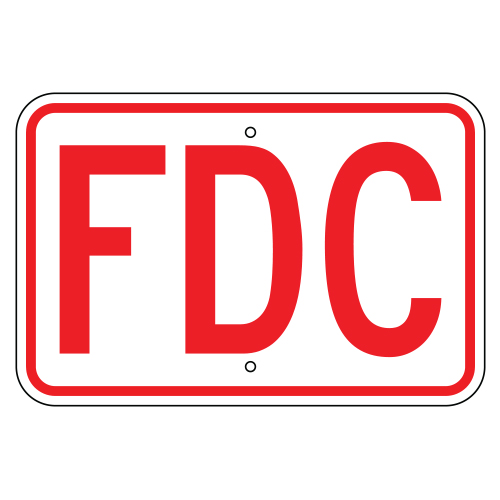 Fire Department Connection (FDC) Sign