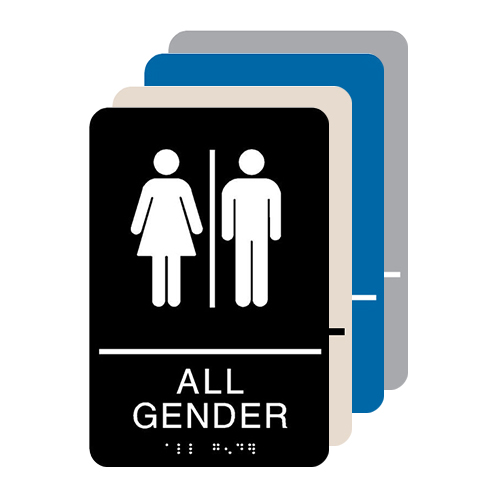 All Gender ADA Restroom Sign