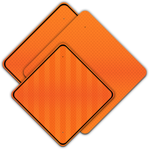 .080 Reflective Blanks DG – Fluorescent Orange