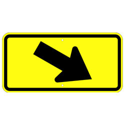 Diagonal Right Arrow Sign