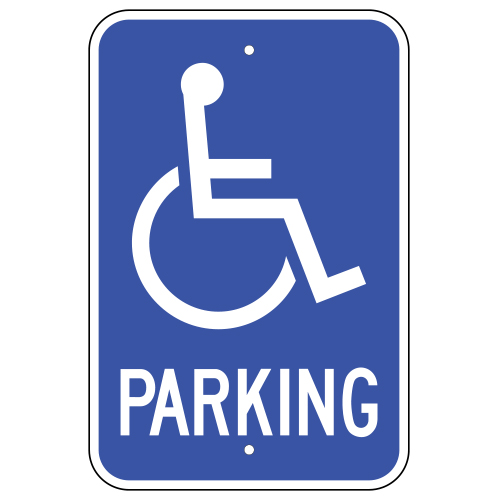 It's just a graphic of Printable Handicap Signs throughout logo