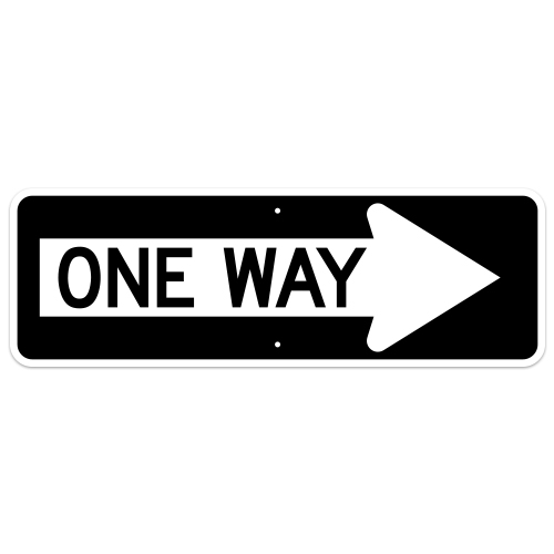 One Way Arrow Sign, Right