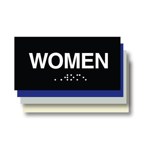 Women ADA Restroom Plaque