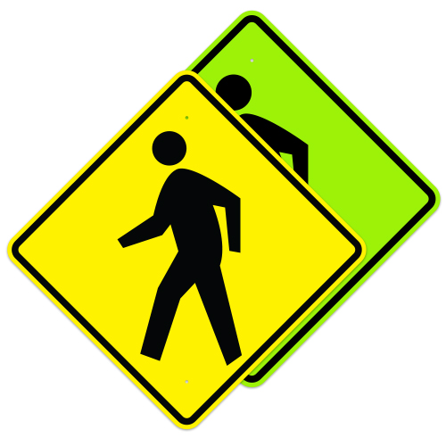 Pedestrian Crossing Symbol Sign