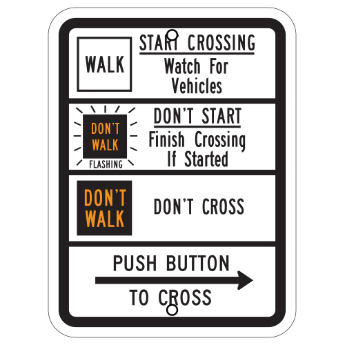 Pedestrian Traffic Signal Sign (Walk/Don't Walk)