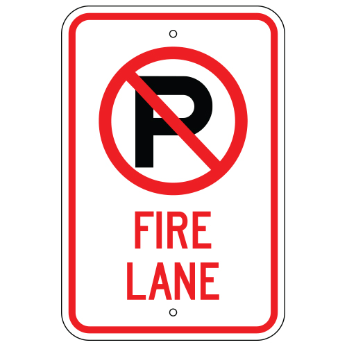 No Parking Symbol, Fire Lane Sign