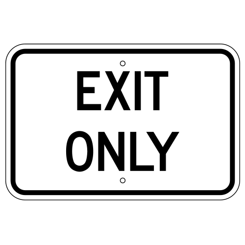 Exit Only Sign (Horizontal)