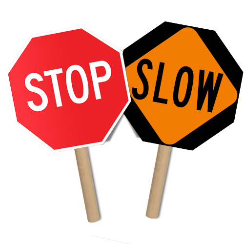 Stop/Slow Sign Paddles