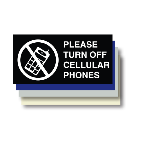 Cell Phone ADA Plaque