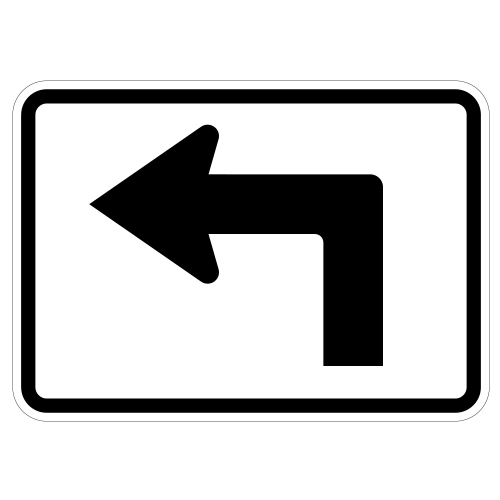 Advance Turn Arrow Auxiliary Sign