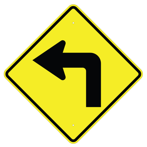Left Turn Arrow Sign