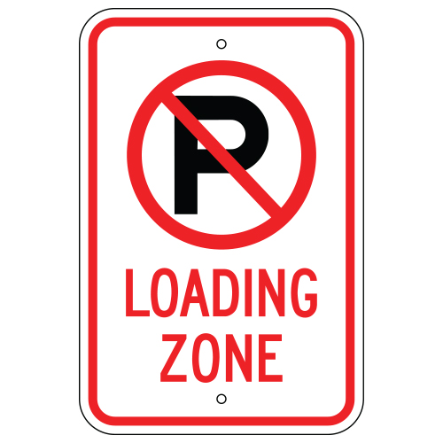 No Parking Symbol, Loading Zone Sign