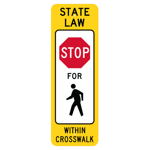 State Law Stop to Pedestrian Within Crosswalk