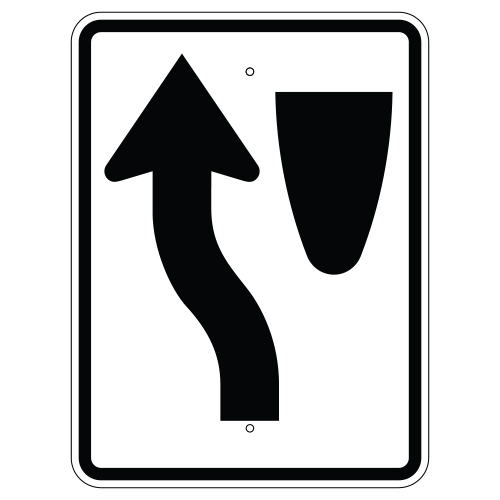 Keep Left Symbol Sign