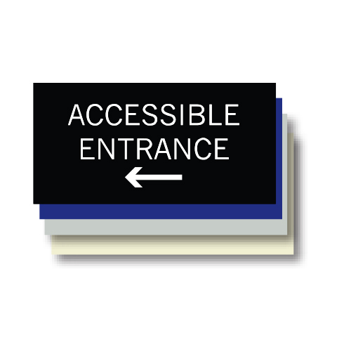 Accessible Entrance ADA Plaque, Left