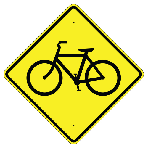 Bicycle Crossing Symbol Sign