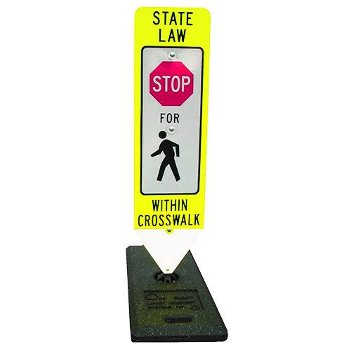 Pedestrian Crosswalk Stop Sign & Base