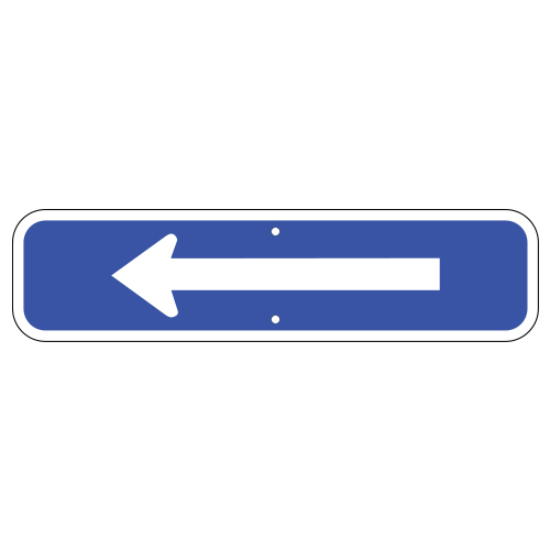 Arrow Plaque Sign, Blue