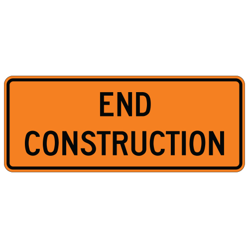 End Construction Sign