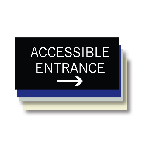 Accessible Entrance ADA Plaque, Right