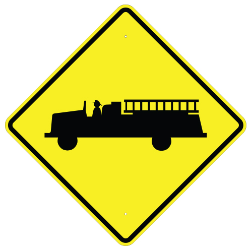 Emergency Vehicle Crossing Sign