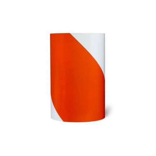 3M™ Advanced Flexible Engineer Grade Pre-Striped Barricade Sheeting 7336 Orange/White