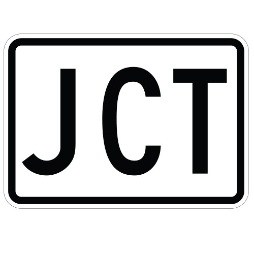 JCT Route Auxiliary Sign