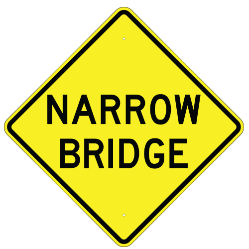 Narrow Bridge Sign