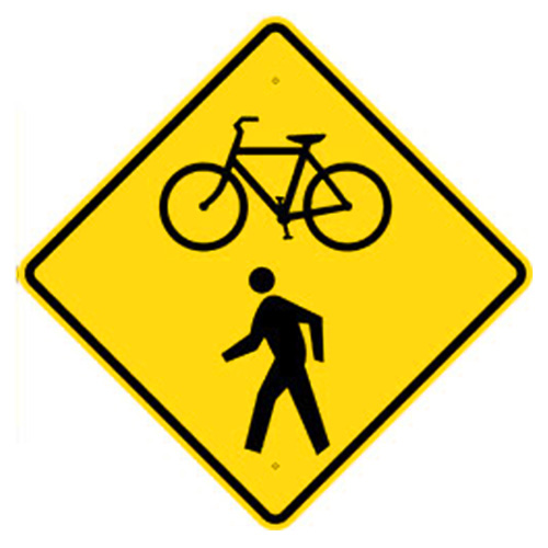 Bicycle Pedestrian Crossing Sign