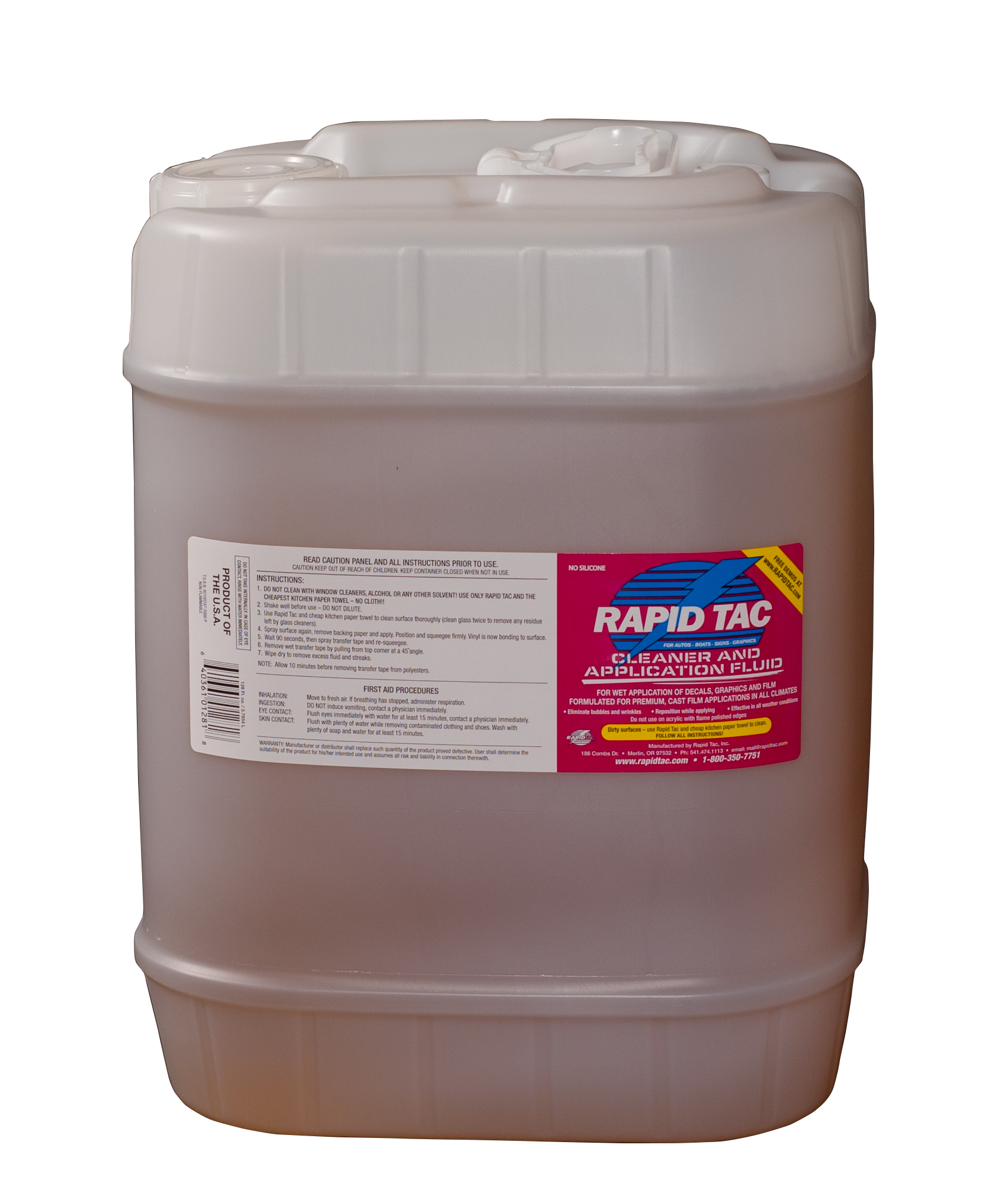 Rapid Tac - 5 Gallon Bottle