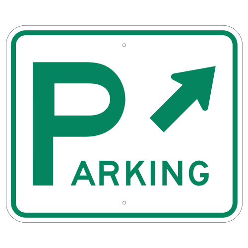 Parking with Upper Right Arrow Sign