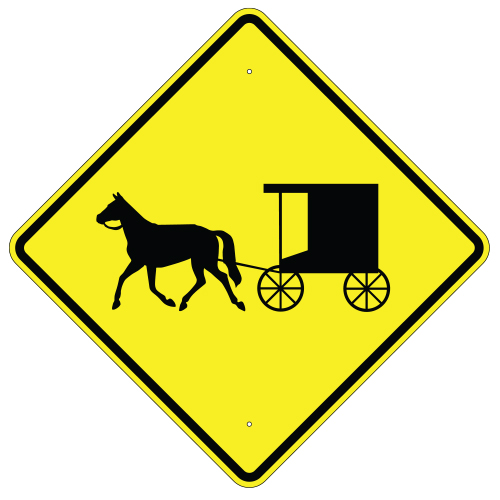 Horse-Drawn Vehicle Crossing Sign