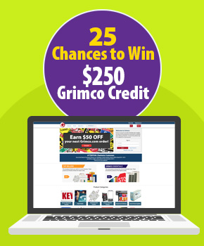 25 Chances to Win a $250 Grimco Credit for a Future Order