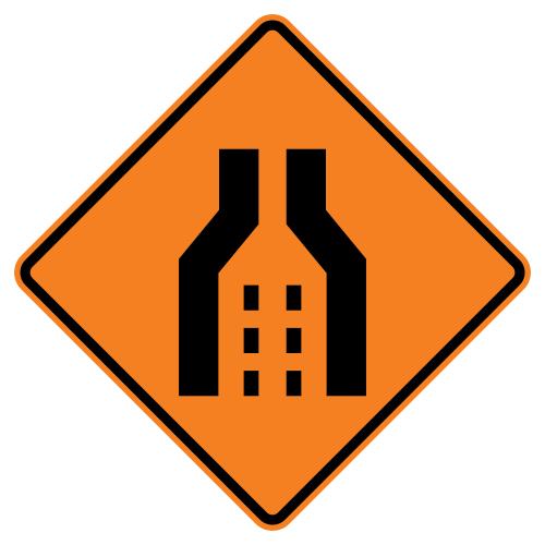 Dual Merge Symbol Sign