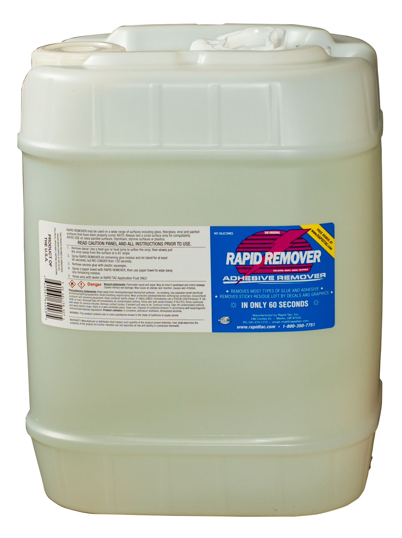 Rapid Remover - 5 Gallon Bottle