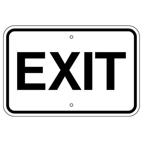 Exit Sign (Horizontal)