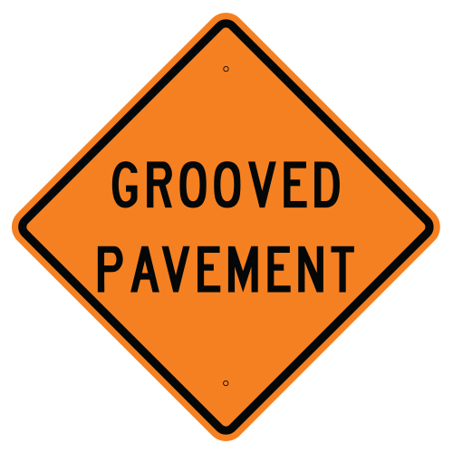 Grooved Pavement Sign