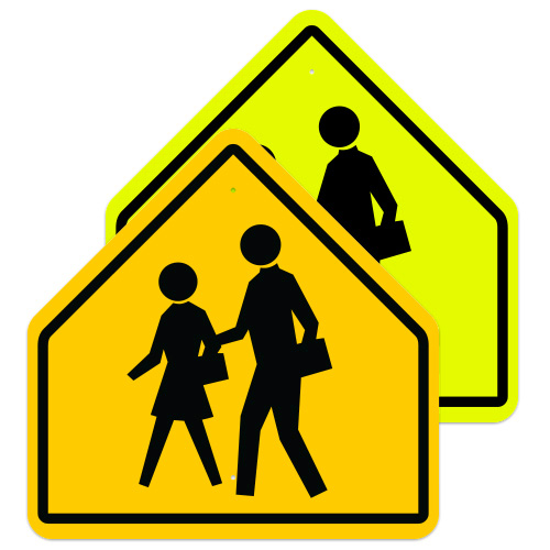 School Crossing Symbol Sign