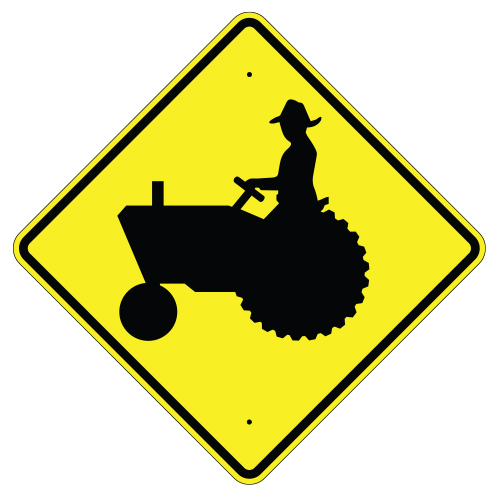 Farm Machinery Crossing Sign