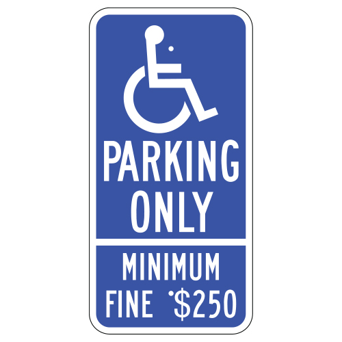Handicap Symbol, Parking Only Sign (California)