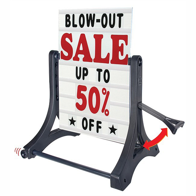 Rolling Swinger® Deluxe Message Board Sign