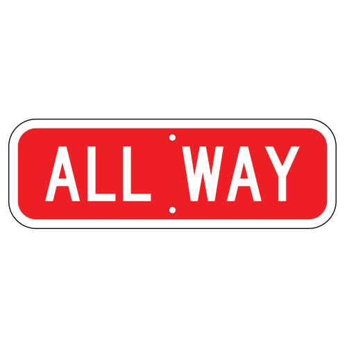All Way Sign