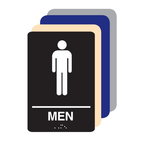Men ADA Restroom Sign