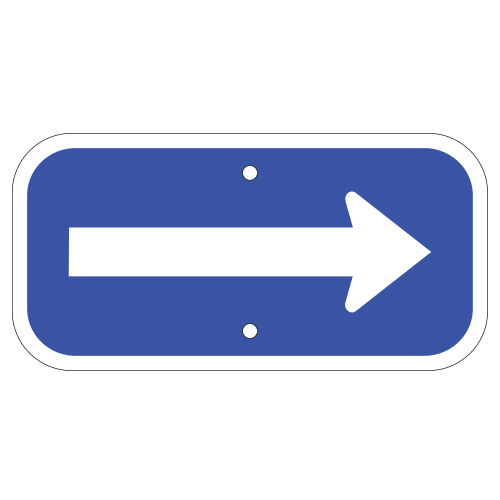 Arrow Sign, Blue
