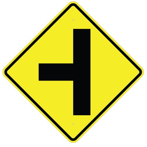 Side Road Symbol Sign