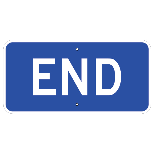 End Auxiliary Sign, Blue